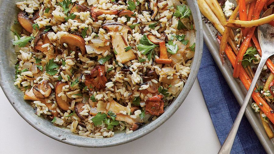 Vad Rice with Mushrooms