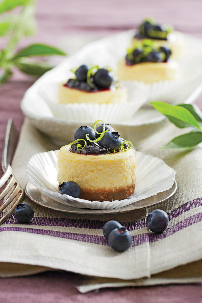 Menue Blueberry Cheesecakes