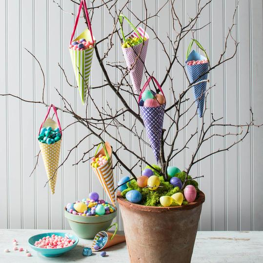 húsvéti Branch Candy Tree