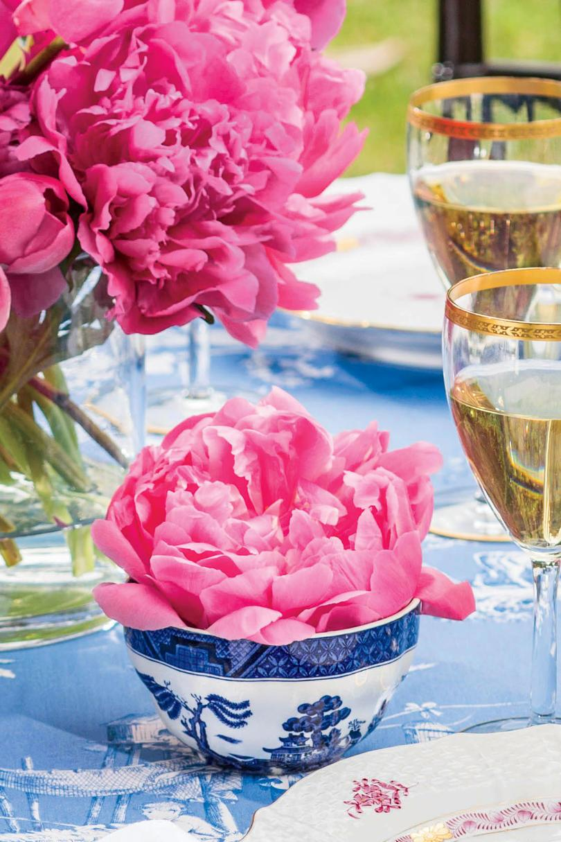 peonies in Tea Cups