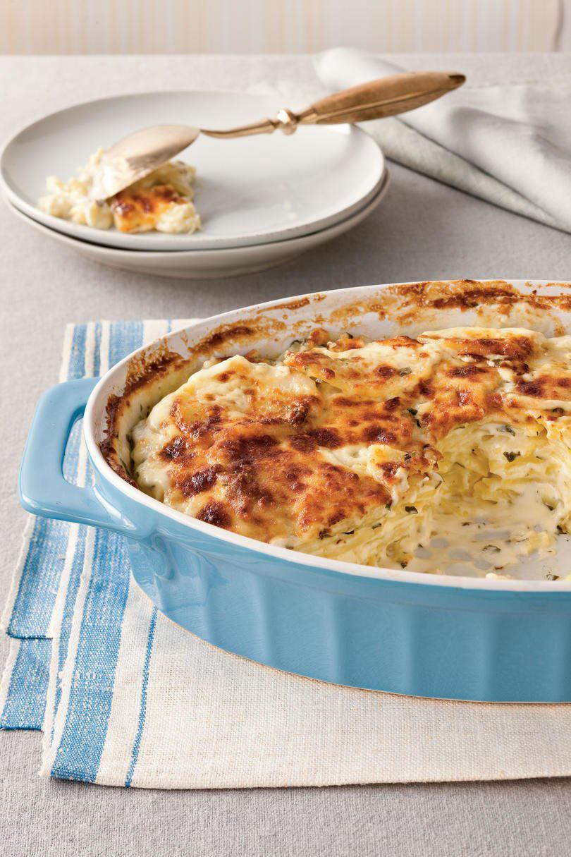 Klasszikus Parmesan Scalloped Potatoes