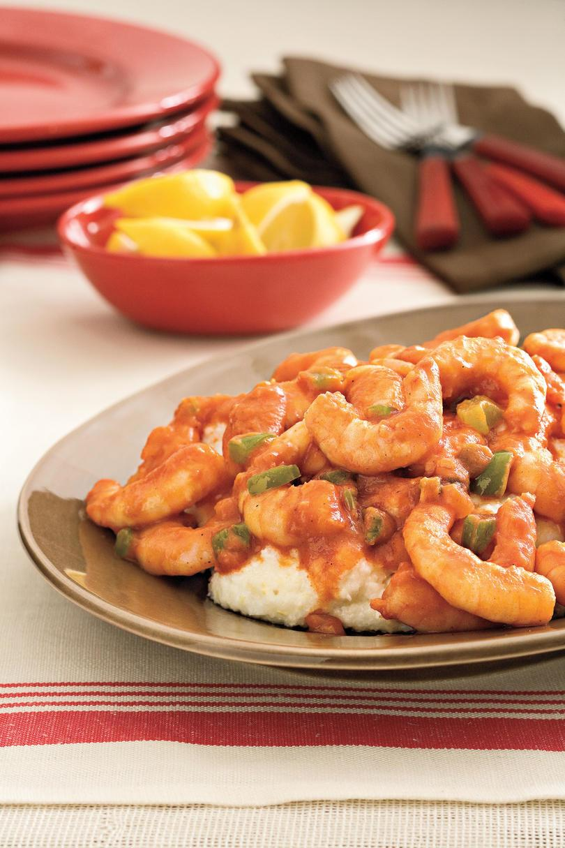 काजुन Recipes: Creole Shrimp and Grits