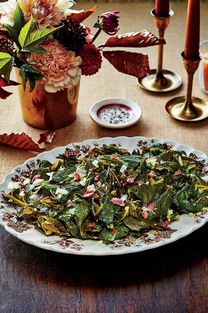 Lassú tűzhely Collard Greens with Ham Hocks Recipe